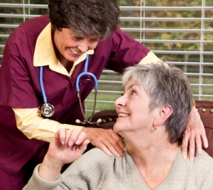 Pulling Together for Diabetes, image of nurse and patient