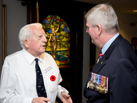 Veteran Tobias McDonald with General Hillier