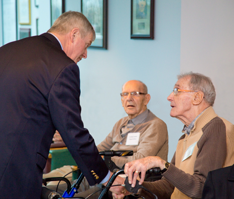 General Hillier with Royal Navy Veteran Gordon Young, aged 94.