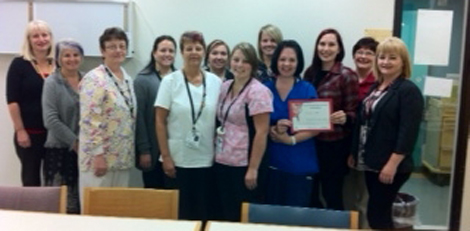 Staff of 4 South A are awarded the inaugural Privacy Eye Award.