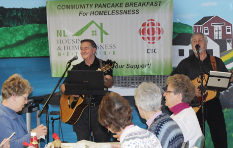 Dave Wilson and Winston Cole performing at Saint Luke's Homes annual Pancake Breakfast.