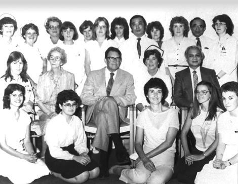 Dr. H. Bliss Murphy with members of his cancer care team (photo credit: Dr. H. Bliss Murphy Cancer Care Foundation).
