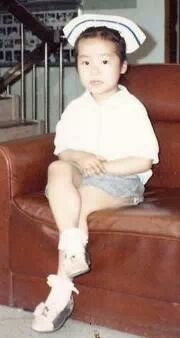 Kelly Sumi Park, volunteer in long-term care, as a child.