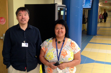 (l-r): Solomon Semigak and Katie Dicker, aboriginal patient navigators with Eastern Health.