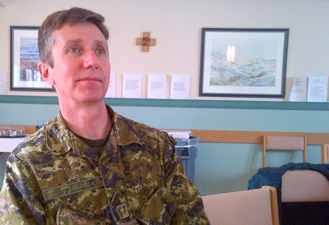 Military Chaplain Glen Eagleson, Canadian Forces Station, St. John's