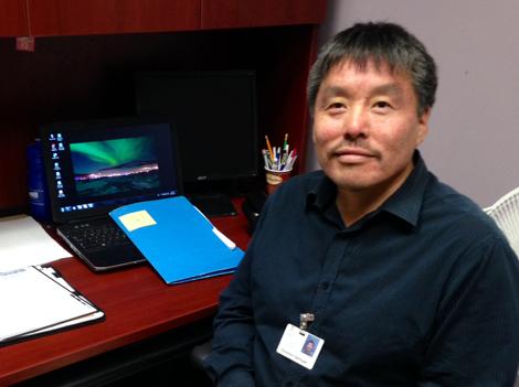 Solomon Semigak, an aboriginal patient navigator with Eastern Health.