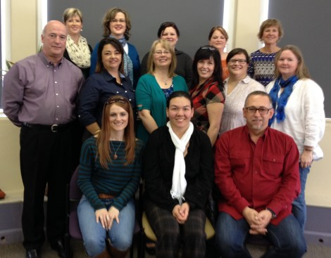 FASDNL Network Group. Top row (l-r) – Pam Griffin, Amy Kendal, Jennifer Woodrow, Lisa Idner and Lorraine Burrage.  Middle row (l-r) – Dave Martin, Karen Pennell, Carolyn Reid, Cheryl Coleman, Andrea Furlong, and Maureen Bethel. Front row (l-R) – Paula Delahunty, Melody Morton Ninomiya, and Paul Harris.