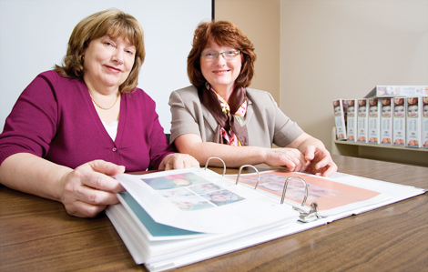 (l-r) Suzanne Dyke, nurse coordinator for the cleft lip, palate and craniofacial team, and Anne Clift, dental manager at the Janeway Children's Health and Rehabilitation Centre with Eastern Health.