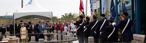 Official opening of the Jim Shields Memorial Garden, Caribou Memorial Veterans Pavilion