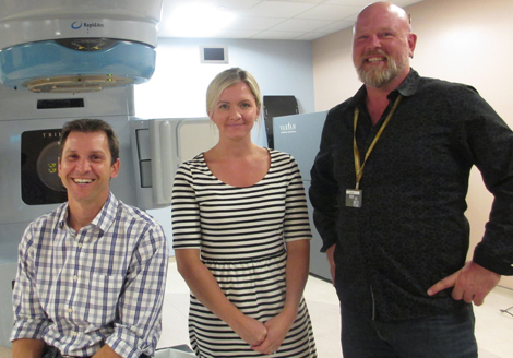 Radiation therapists, like Robin Park, Jennifer Alyward and Paul Norman, work with pediatric oncology patients to help make treatment more comfortable and relaxed.