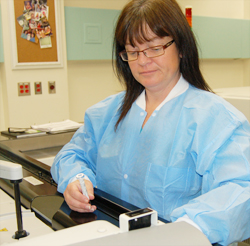 Sharron Power, medical laboratory technologist with Eastern Health.