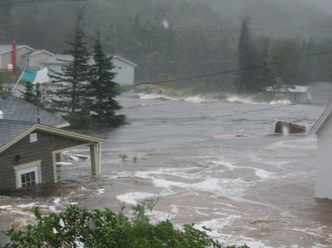 Scenes from Trouty, Bonavista, during Hurricane Igor, September 21, 2010.