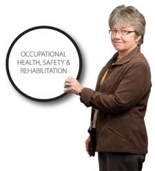 Regina Coady, Director of Occupational Health, Safety and Rehabilitative Services