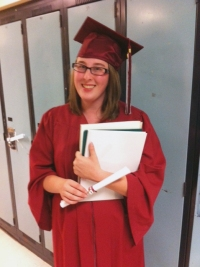 Ashley, the high school graduate, 2014
