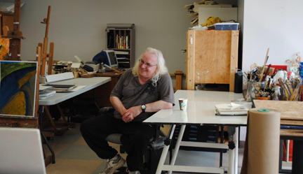 Student Gerard McNiven, at Open Windows Studio