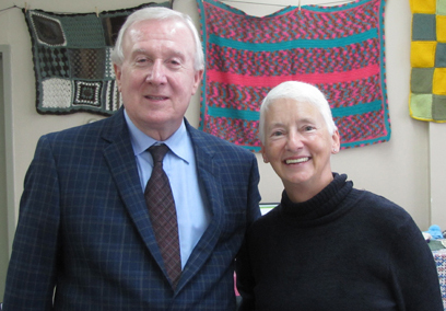Frank Ryan, Vice-Chair of Eastern Health's Board of Trustees, and Evelyn Reid- Harrington, member of the Kindred Spirits.