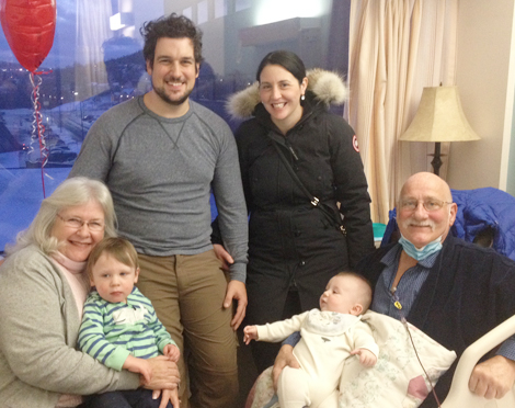 Mom and Dad with their son Derek, his wife Melissa and grand-children Charlie and George