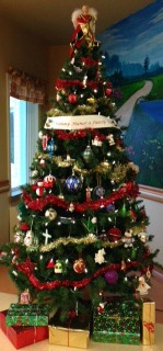 The finished 'Family Tree' at O'Mahony Manor, Clarenville