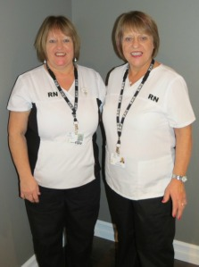 Dianne Boland, RN and her twin sister Anne Brophy, RN – as they prepare to retire