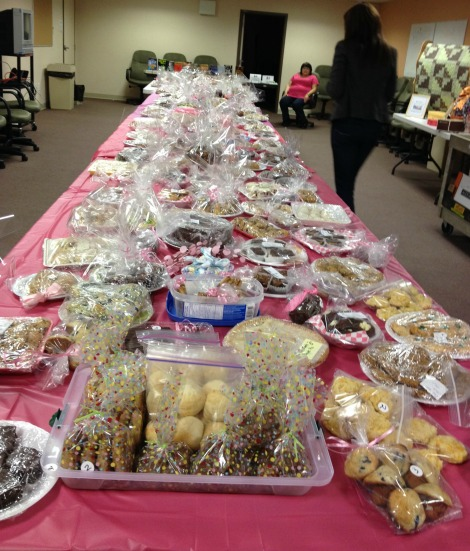 Pink Pearls bake sale for Iris Kirby House