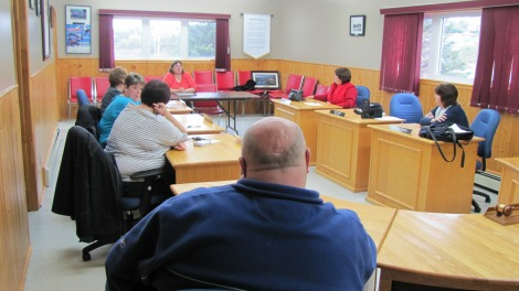 Eastern Health's meeting with the committee at the St. Lawrence Town Hall this past October.