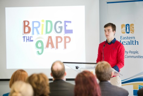 Patrick Hickey, high school student and mental health advocate, at the launch of Bridge the gAPP.