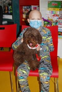 Charlie with Janeway patient, Daelen Murphy