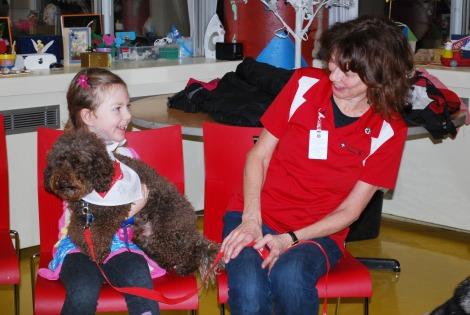 Leah Swain, patient at the Janeway, Charlie and Noreen Flynn, St. John Ambulance Volunteer