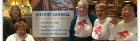 (Top-left) Janice Field, regional health educator with Eastern Health, and members of the Newfoundland and Labrador Seniors Resource Centre's Mall Walkers Club at the Avalon Mall in St. John's, NL