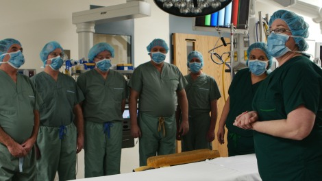 Members of the unions and RDTC in the Integrated Operating Suites