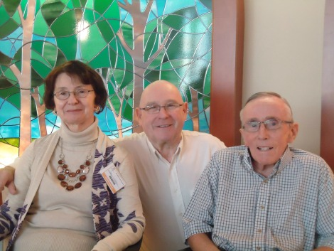 Brian and Patsy Whelan with Walter Lawlor, resident at the St. John's long-term care facility