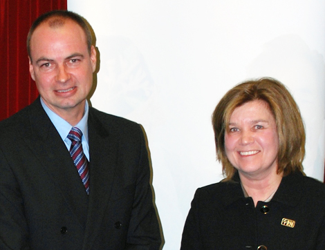 (l-r) Paul Byrne and Kathy Corbett