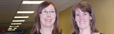 Theresa Shea and Mary Rogers, physiotherapist with Eastern Health