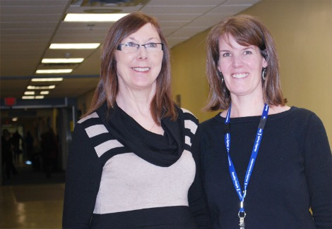 (l-r) Theresa Shea and Mary Rogers, physiotherapist with Eastern Health