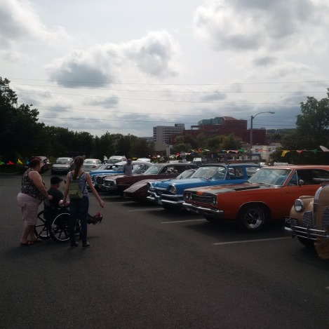 Enjoying a taste of the past with antique cars at the Pavilion's Regatta party