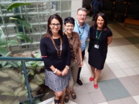 The Social Work Team - l-r: Carolyn Jones, Elaine Holden, Bill Haynes, Paula Newhook