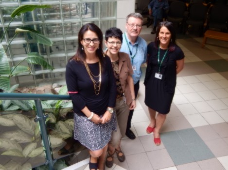 The Social Work Team - l-r: Carolyn Jones, Elaine Holden, Bill Haynes, Paula Newhook