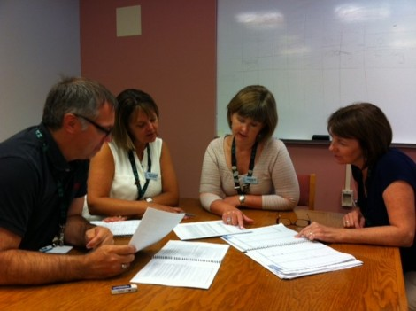 Faculty members of the Centre for Nursing Studies in discussions.