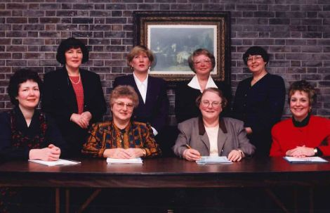 Members of the Transition Team that brought together the St. Clare's Mercy Hospital School of Nursing, the Salvation Army Grace General School of Nursing and the General Hospital School of Nursing in 1996.