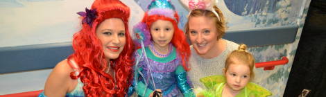 Recreation Therapy Worker Trixie Mahoney was joined by fellow mermaid, Eva, Eva's mom, Jenn, and sister, Ana