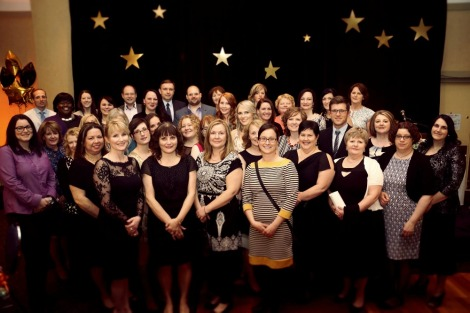 Group shot of the award winners and CNA grant recipients at the 2015 Annual Nursing Gala and Awards Ceremony