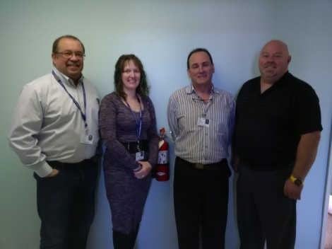 Eastern Health's emergency management team wishes the region a safe and happy holidays (l-r) Joe Sobol, Lisa Shallow, Darryl Prosper and Gerard Tilley