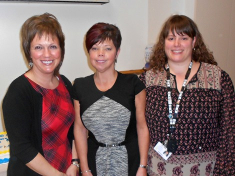 (l-r) Anne Vey, administrative assistant; Marilyn MacKeigan, senior site manager; and Kelli Davis, manager of the medicine/surgery, ambulatory care and chemotherapy program of the Dr. G. B. Cross Memorial Hospital in Clarenville. These individuals were instrumental in seeing the palliative care renovation project through from beginning to end.