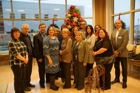 Senior Management and Health Care Foundation staff at St. John's Long-Term Care Facility