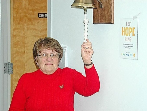 Agnes Patey initiates the Bell of Hope in St. Anthony.