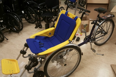 The duet bicycle, St. John's Long-Term Care facility