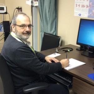 James Feltham, community clinic nurse in Hopedale