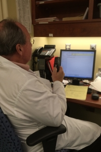 Dr. Eric Stone improves report turnaround times using voice recognition technology.