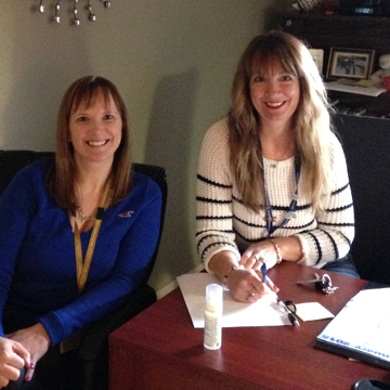 (l-r) Cynthia Norman, Social Worker and Kim Vaters, Regional Social Work Coordinator, Burin Peninsula Health Care Centre