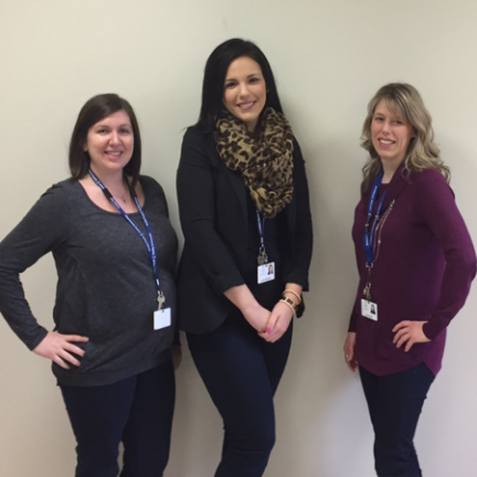 Members of the Peninsulas team of Social Workers. (l-r) Lezley Blundon, Clarenville, Jessica McCarthy, Bonavista, and Laura Russell, Clarenville